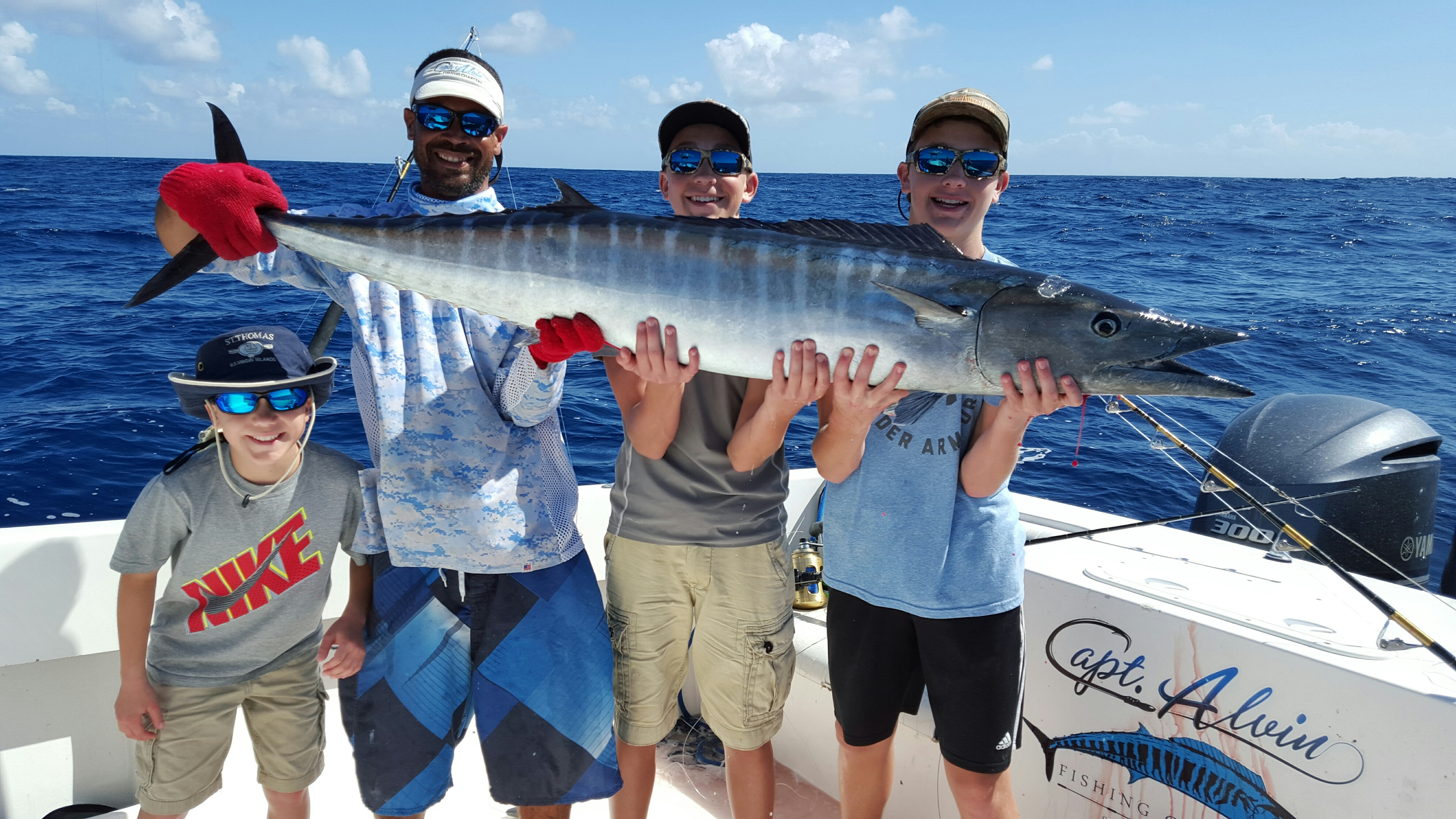January february 2016 report capt alvin fishing charters for St thomas fishing